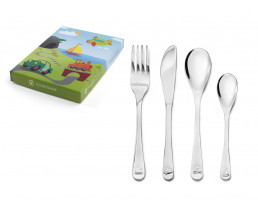 Children's cutlery Vehicles, 4 pieces, stainless steel