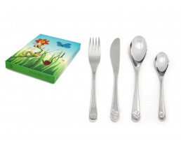 Children's cutlery Nature friends, 4 pieces, stainless steel 18/10