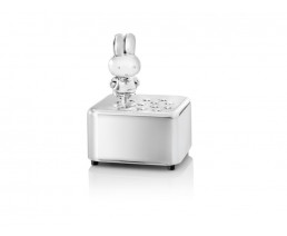 Music box miffy, silver plated lacquered