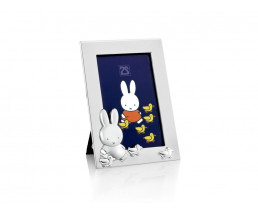 Photo frame miffy with little ducks 6x9cm sp./lacq.