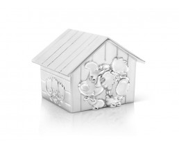 Money box Woezel & Pip, silver plated lacquered