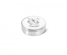 First tooth/haircurl box Woezel & Pip, silver plated lacquered