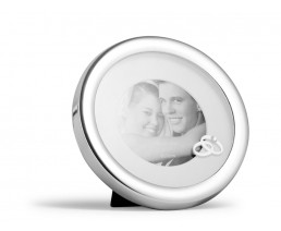 Photo frame Wedding Day, silver plated lacquered