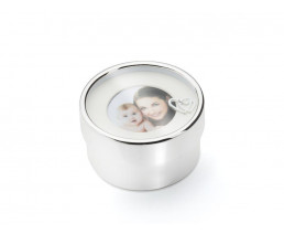 What-not-box 'I love you Mom', silver plated lacquered