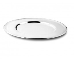 Charger plate Lines, silver colour
