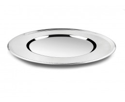 Charger plate Pearl, silver colour