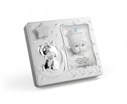 Photo frame Baby 9x13 cm, with music, silver plated lacquered