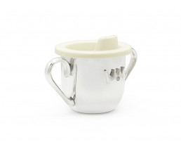 Kiddy cup Crown, silver plated lacquered