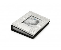Photo album Baby, silver plated lacquered