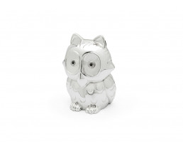 Money box Owl, silver colour
