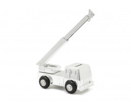 Money box Crane, silver plated lacquered