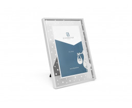 Photo frame Stork 10x15 cm, silver plated lacquered
