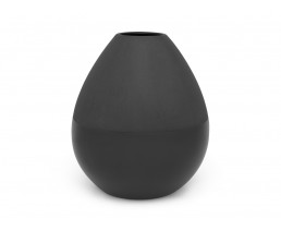 Vase Como large Ø150x170 mm, black, matt/shiny