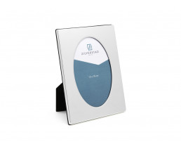 Photo frame oval 13x18 cm, silver plated lacquered