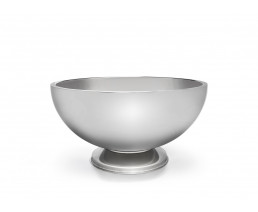 Champagne bowl on base, double walled, stainless steel