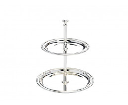Serving stand Elegance, 2-tier, small, silver plated