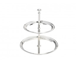 Serving stand Elegance, 2-tier, large, silver plated
