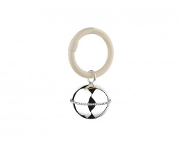 Rattle Ball Pearl on ring (B90 heavy silver plated)